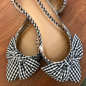 A New Day Gingham Flats- Size 9.5
